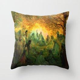 Jesus Christ sermon on the mount - religious prints Throw Pillow
