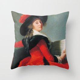 Portrait of Baronne de Crussol, Élisabeth Louise Vigée Le Brun  Throw Pillow