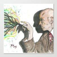 crowley Canvas Prints featuring Mr. Crowley by Nicholas Dubay