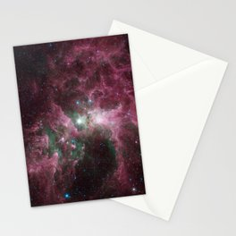 Abstract Purple Space Image Stationery Cards