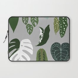 Leaves composition 2 gray background Laptop Sleeve
