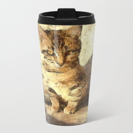 All Cats Are Black In The Dark Metal Travel Mug