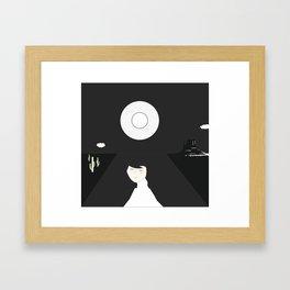 moon monument Framed Art Print