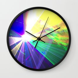 Coloured laser Wall Clock