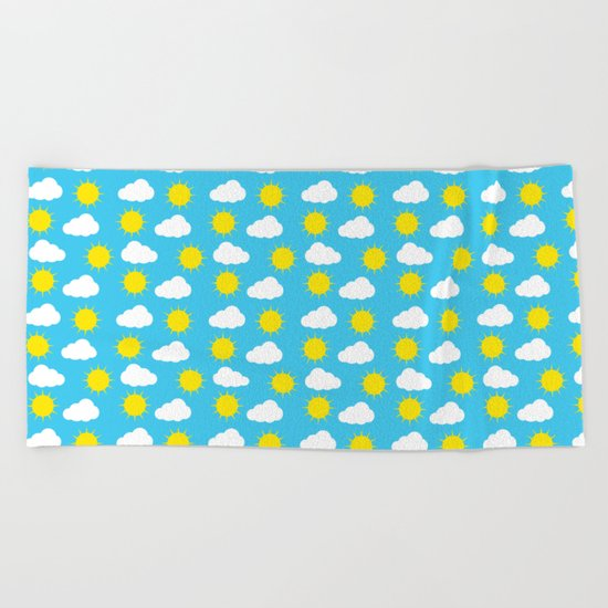 Sun & Clouds Beach Towel