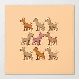 Nine dogs  Canvas Print