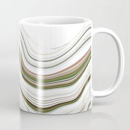 Green Strata Auto Portrait Pattern Coffee Mug