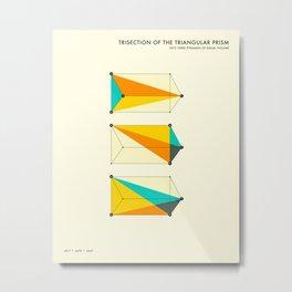 PRISM TRISECTION (b) Metal Print