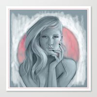 ellie goulding Canvas Prints featuring Ellie Goulding  by Mathew