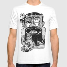 bruno is my enemy Mens Fitted Tee White MEDIUM