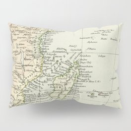 Vintage Map of Africa Pillow Sham