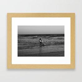 Let's go surfing Framed Art Print
