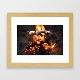 Singed Bits Framed Art Print