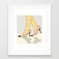 shoes Framed Art Prints featuring Shoes by Ben Geiger
