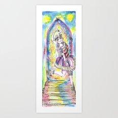 Princess in night colorful Art Print