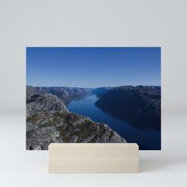 Sunny day at Lysefjord Mini Art Print