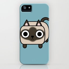 Cat Loaf - Siamese Kitty iPhone Case