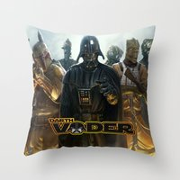 darth vader Throw Pillows featuring Darth Vader by store2u