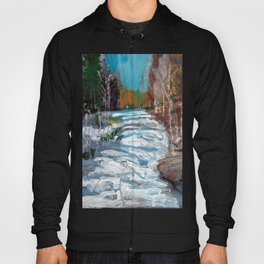 Melting Snow in McKinnon Ravine / Dennis Weber / ShreddyStudio Hoody