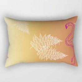 long funky flamingo Rectangular Pillow