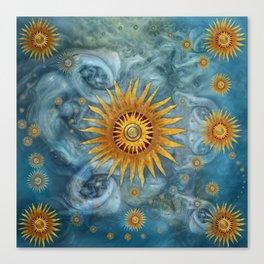"""Saturn mandala celestial vault"" Canvas Print"