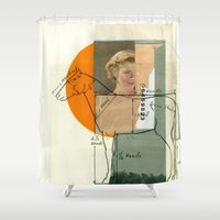 legs Shower Curtains featuring Legs by Cut and Paste