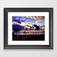 Till The Storm Passes Framed Art Print