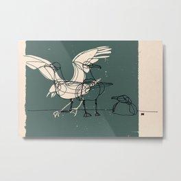 Three Seagulls Metal Print