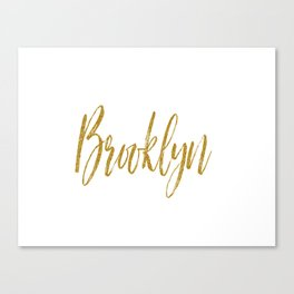 Brooklyn Typographic Poster Canvas Print