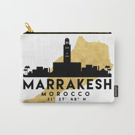 MARRAKESH MOROCCO SILHOUETTE SKYLINE MAP ART Carry-All Pouch