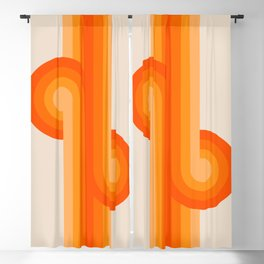 Creamsicle Knots Blackout Curtain