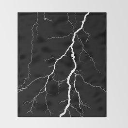Lightning (Black & White) Throw Blanket