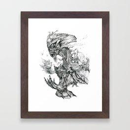 Mother of Pearl Framed Art Print