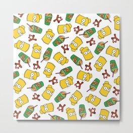 Bart Simpson Icons Metal Print