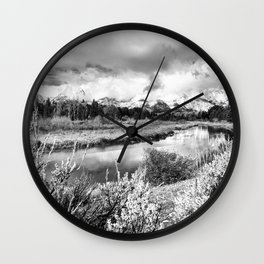 Rivers + Vistas - Grand Tetons Wall Clock