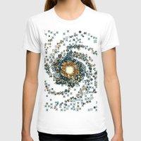 8bit T-shirts featuring Pinwheel Galaxy M101 (8bit) by Sarajea