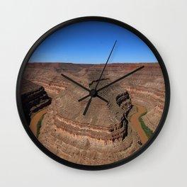Meader Of T San Juan River Wall Clock