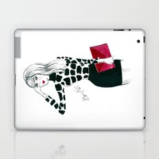 Giraffe Print Fashion Model Watercolor Laptop & iPad Skin