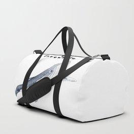 Farewhale Humour Whale Farewell Goobye design Duffle Bag