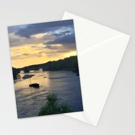 Sunset Sailing on the Loire Stationery Cards