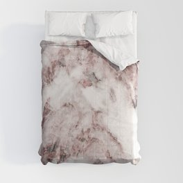 White and Pink Marble Mountain 04 Comforters