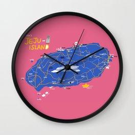Jeju by artist ozo Wall Clock
