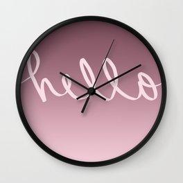 Hello Caligraphy Wall Clock