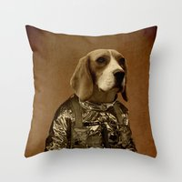 beagle Throw Pillows featuring Beagle by Durro