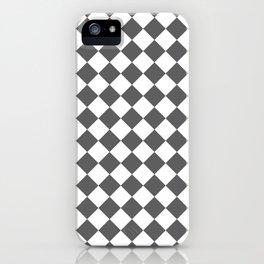 Diamonds - White and Dark Gray iPhone Case
