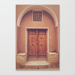Abyaneh Door #3 (from the series 'Iranian Doors') Canvas Print