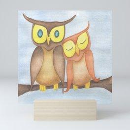 The Owl Lovers Mini Art Print