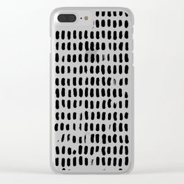 Minimalist Black Brush Strokes Clear iPhone Case