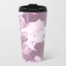 Rose bouquet - beautiful roses from rose garden - vintage style Metal Travel Mug