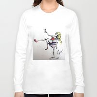 martini Long Sleeve T-shirts featuring Martini by Frances Roughton